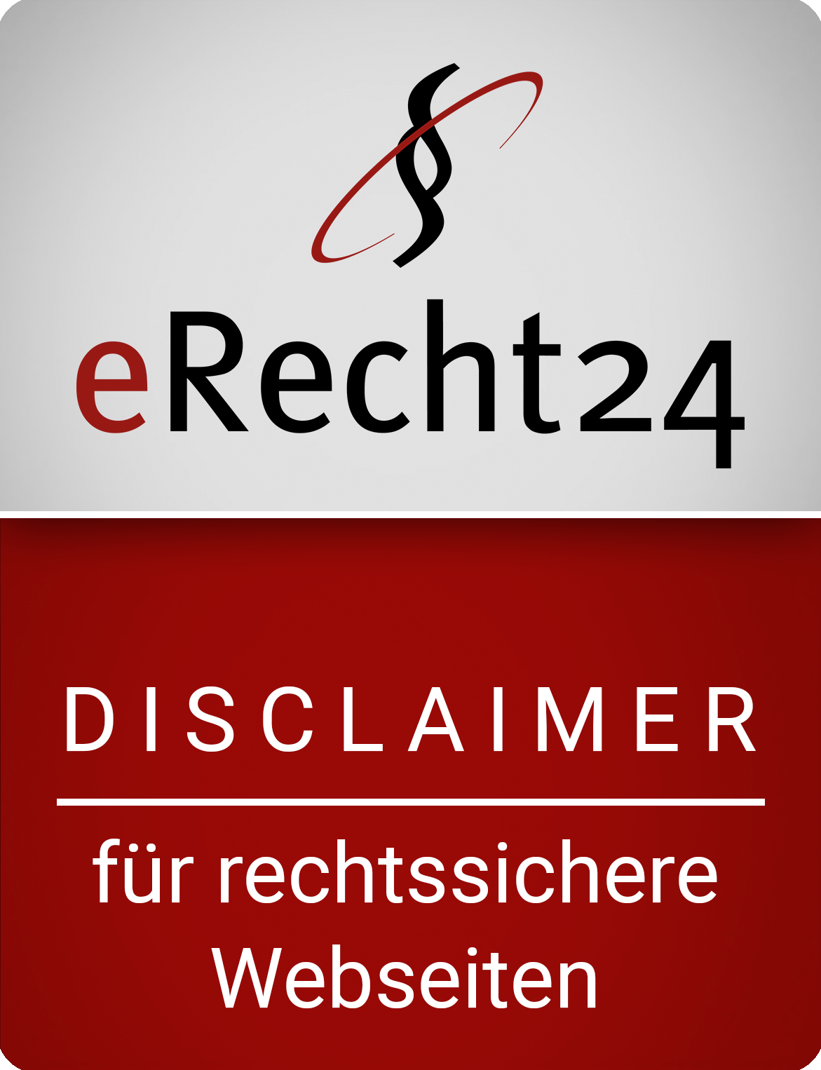 erecht24 siegel disclaimer rot gross